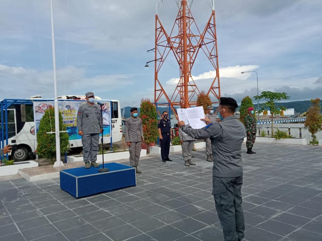 Zona Maritim Timur Bakamla RI Gelar Latihan Operasi Keamanan dan Keselamatan Laut