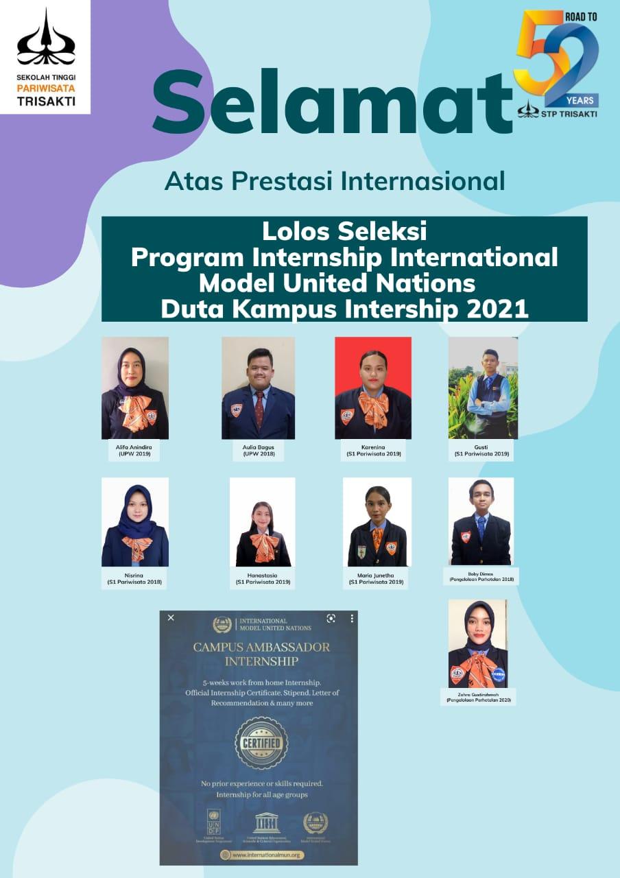 9 Mahasiswa STP Trisakti terpilih dan lolos Seleksi Program Internship International AWMUN