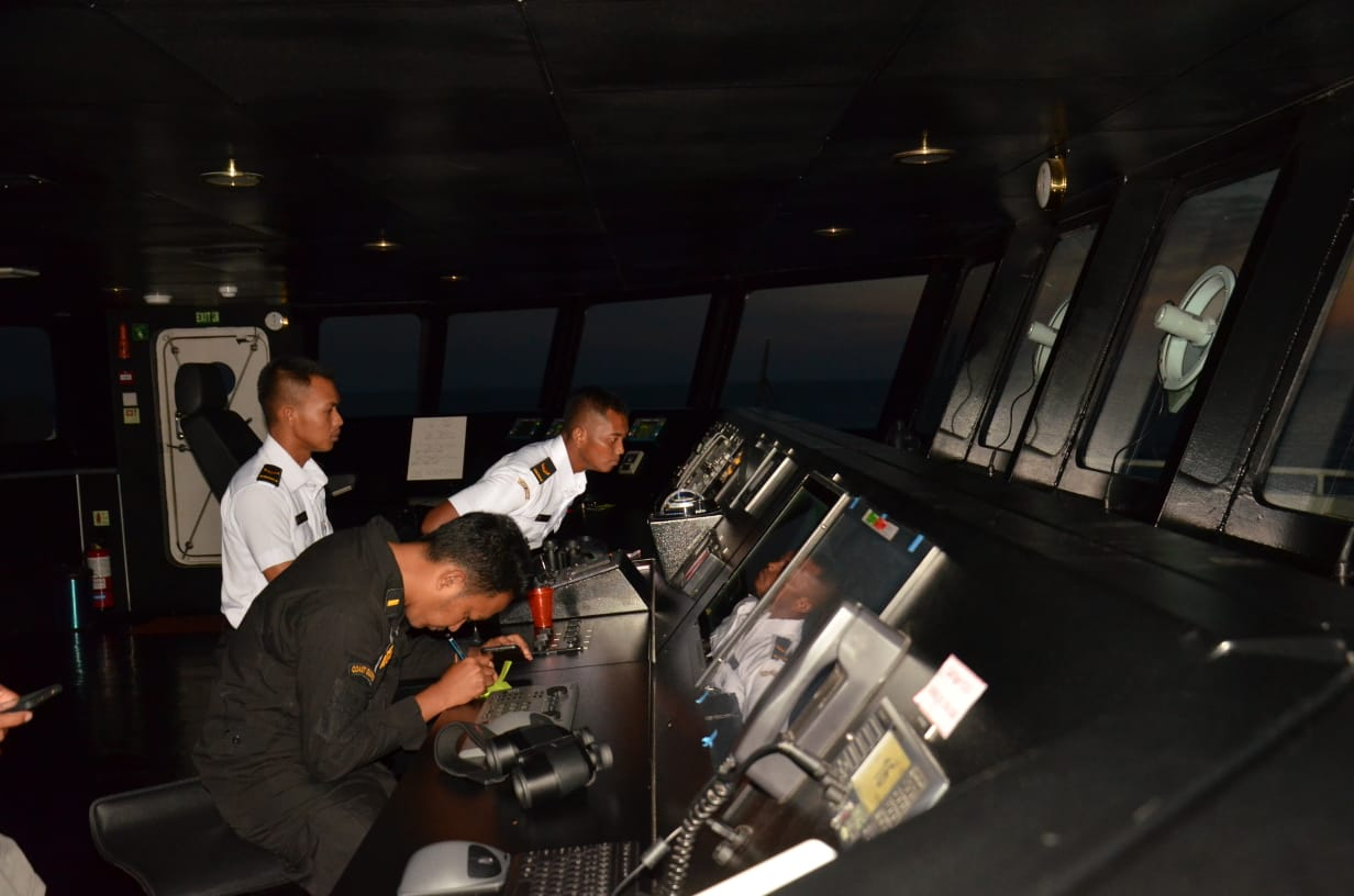 Berlayar ke India, KN Tanjung Datu Asah Kemampuan Operasi Kemudi Darurat