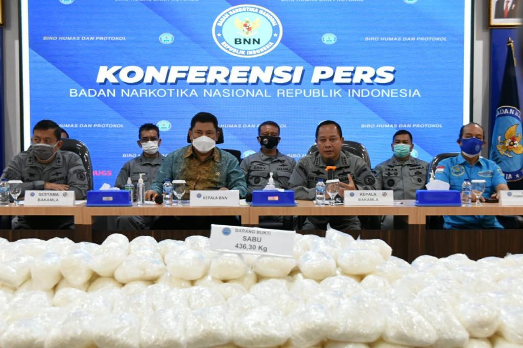 Bakamla RI dan BNN Gagalkan Penyelundupan Narkotika Jenis Sabu-sabu