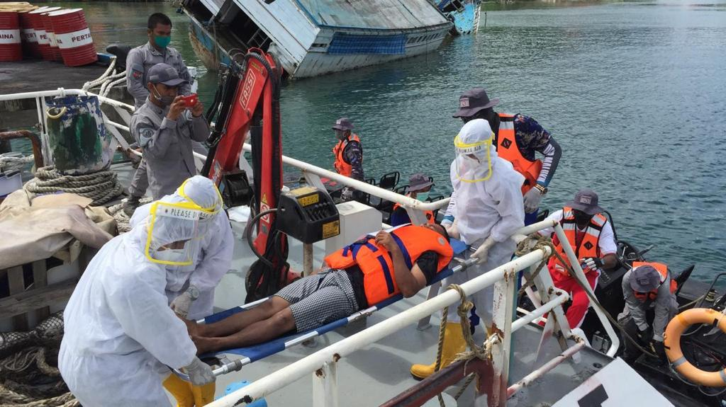 Bakamla RI Gelar Latihan SAR Laut di Teluk Ambon