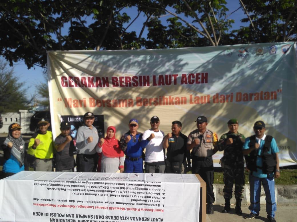 SPKKL Aceh Bakamla Turut Dalam Deklarasi Bersama Jaga Laut Bersih