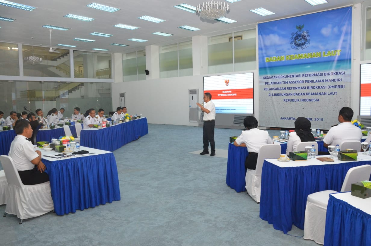 Bakamla Komitmen Ciptakan Good Government Melalui Pelatihan Tim Asesor PMPRB