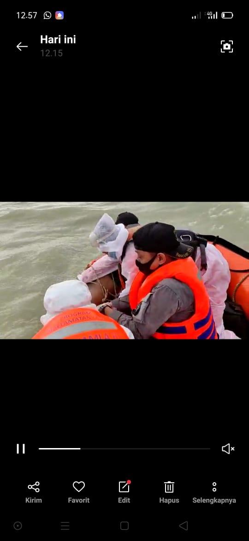SPKKL Sambas Bakamla RI Bersama Tim SAR Gabungan Temukan Korban Hilang di Perairan Sambas
