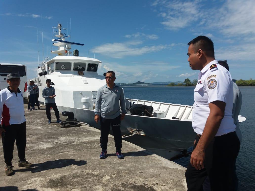 Kepala Kantor Zona Kamla Tengah Tinjau Kesiapan KN Gajah Laut 404