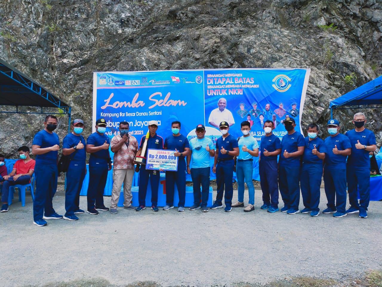 Personel SPKKL Jayapura Bakamla RI Raih Juara Dua Lomba Selam Danau Sentani