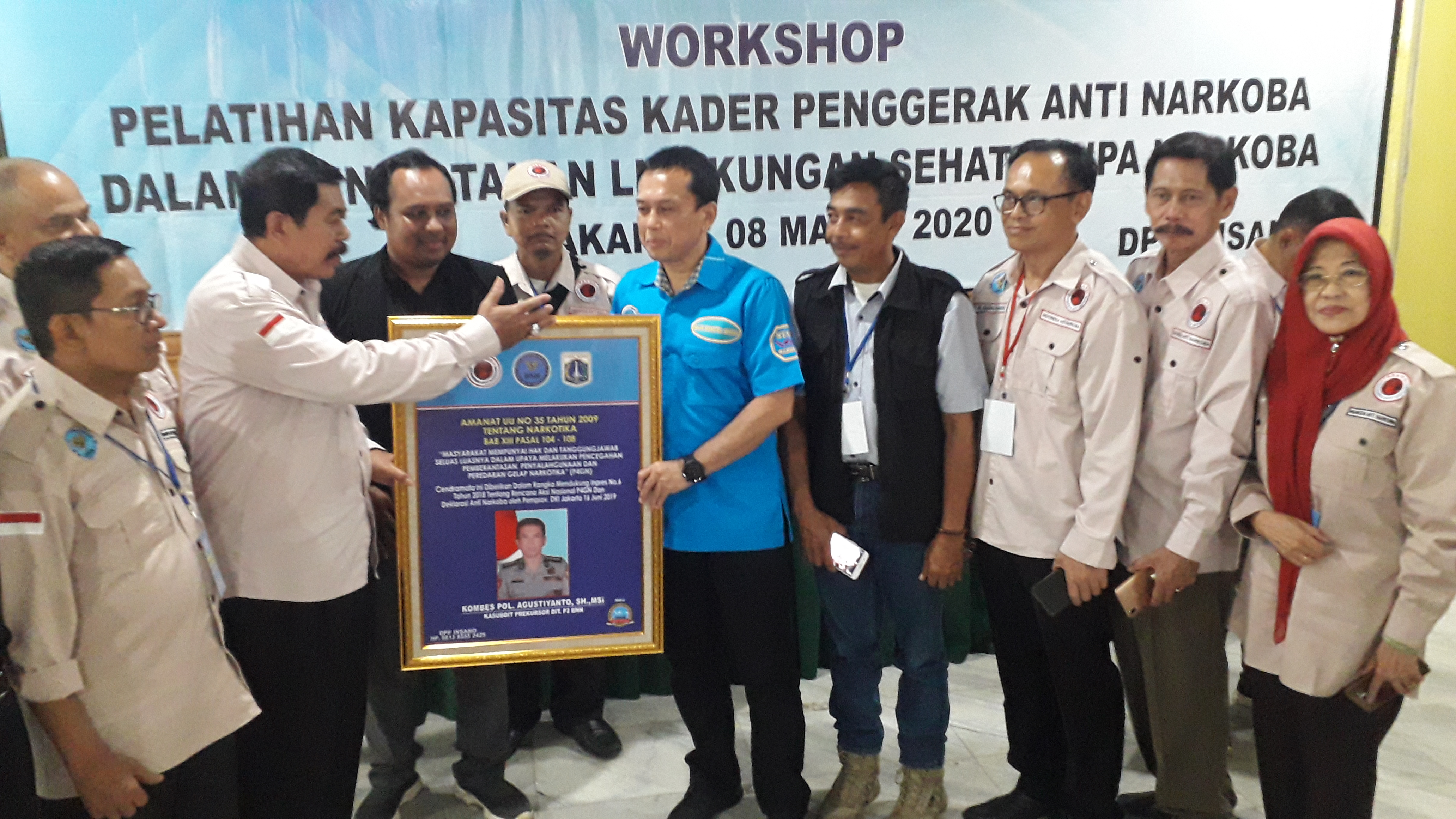 Siapkan 3000 RW Kader Anti Narkoba se-DKI Jakarta, INSANO Dan BNN Gelar TOT