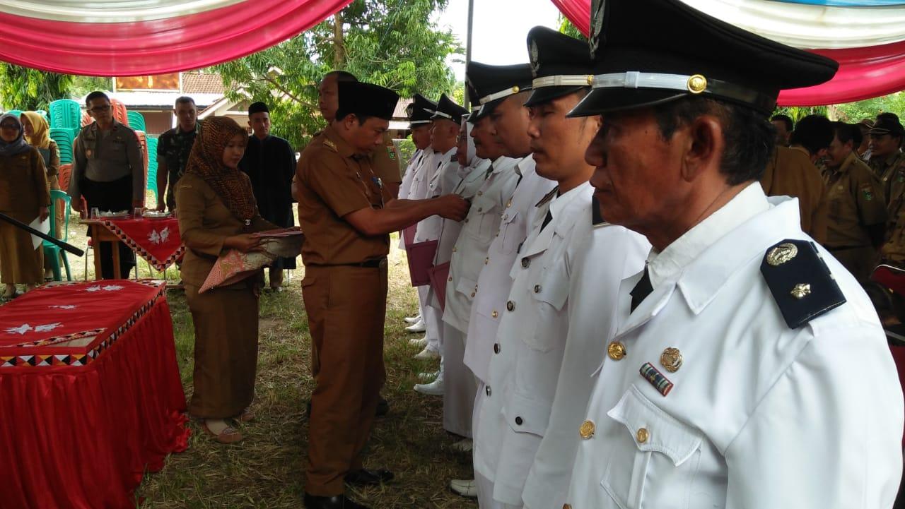 Bupati Tanggamus Lantik 8 Pj Kepala Pekon Kecamatan Pematang Sawa