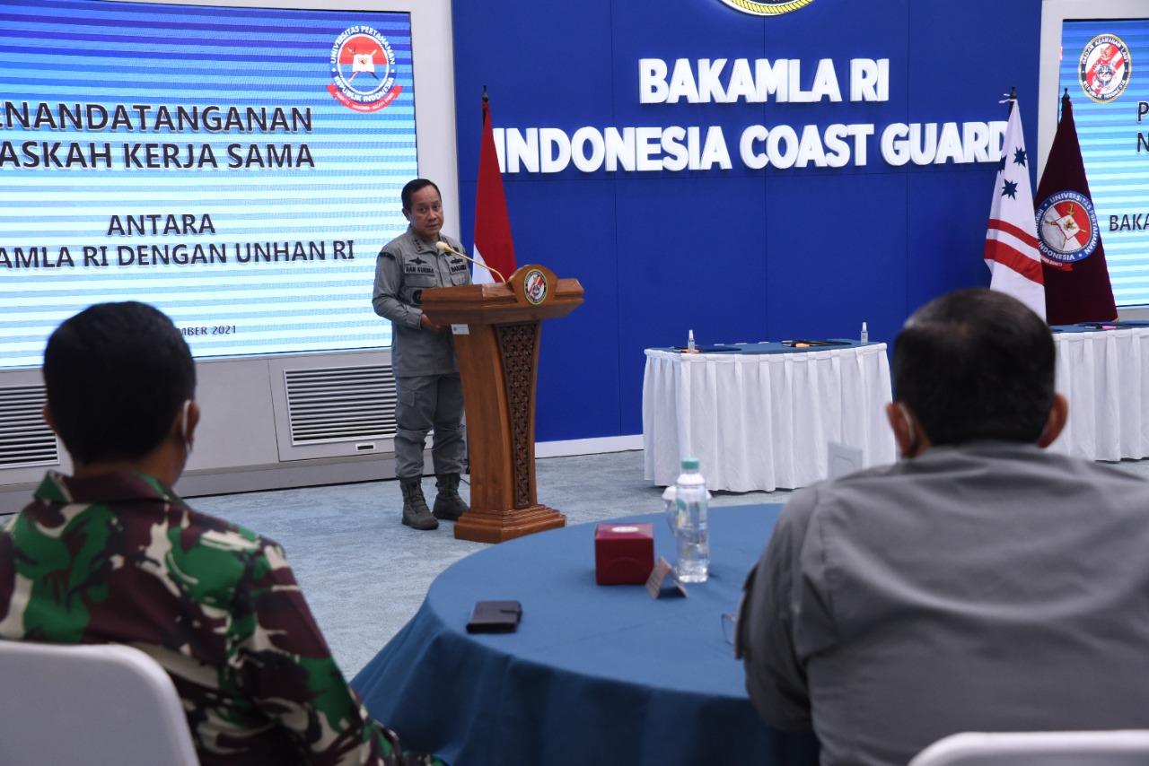 Bakamla RI - Unhan RI Kolaborasi Perkuat Keamanan Maritim