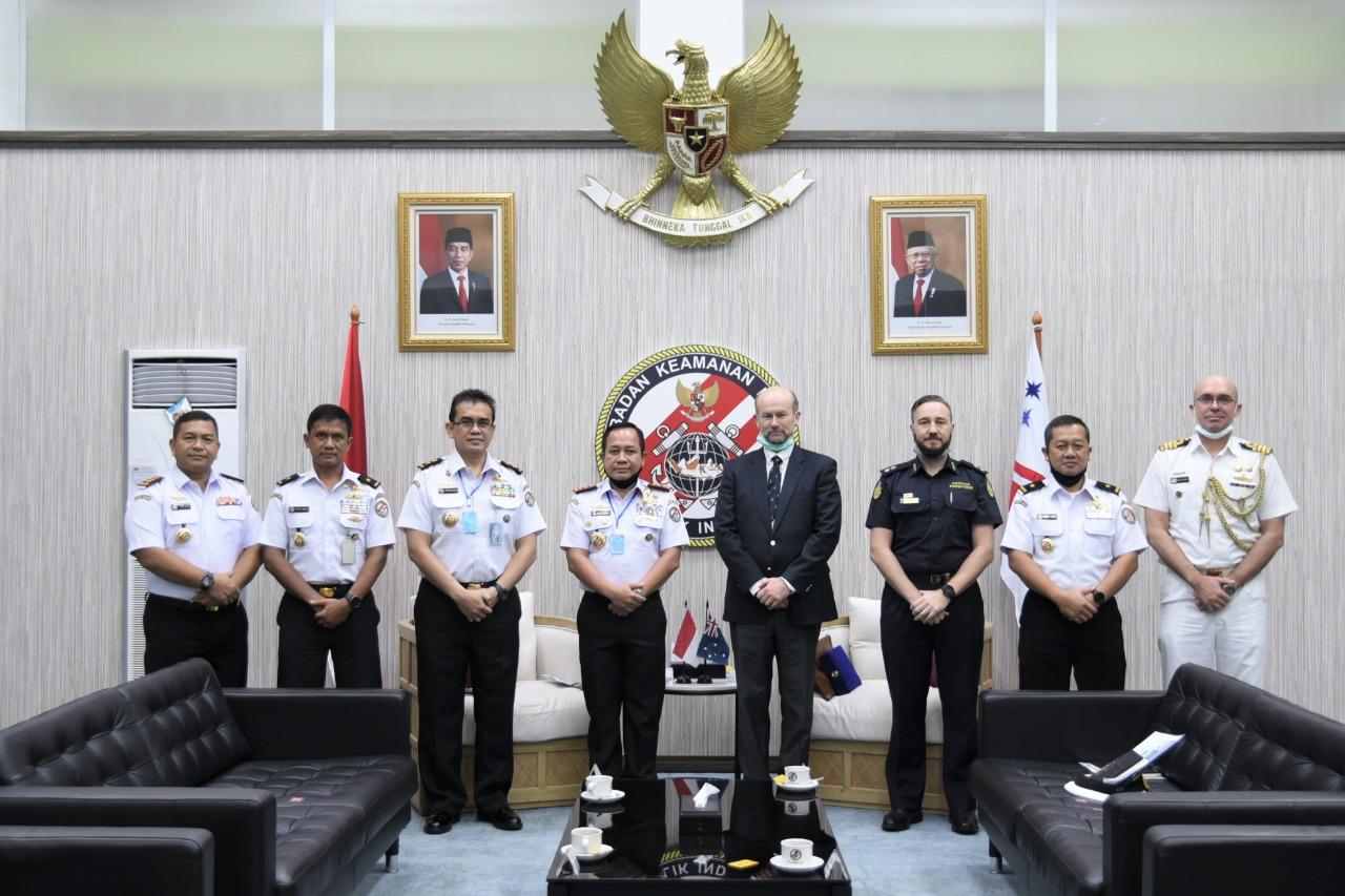 Kepala Bakamla RI Terima Kunjungan Deputy Chief of Mission Kedubes Australia