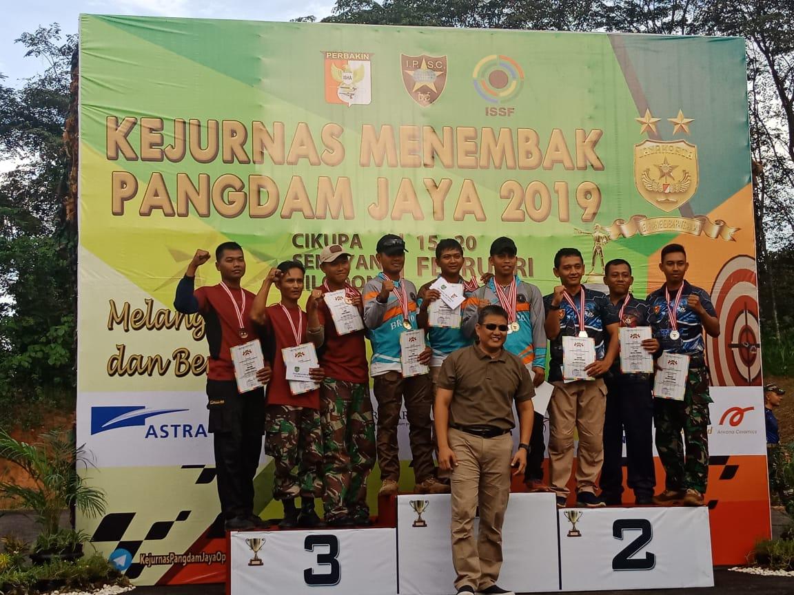 Masuki Hari Ketiga Kejurnas Menembak Pangdam Jaya, Bagikan Hadiah Pemenang