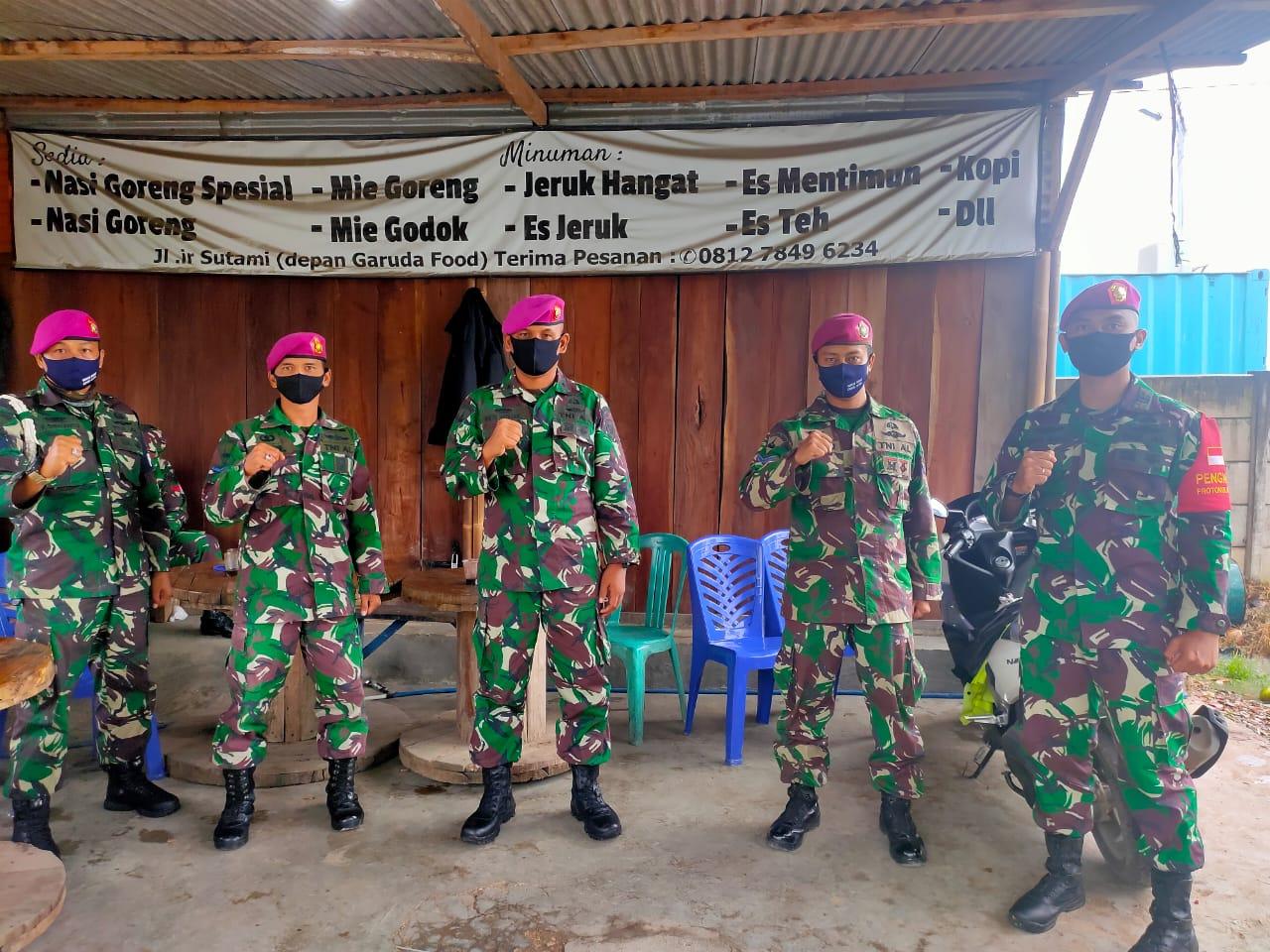 Batalyon Infanteri 7 Marinir Melaksanakan Pengecekan Pasukan Gugus Tugas Covid-19 Wilayah Lampung