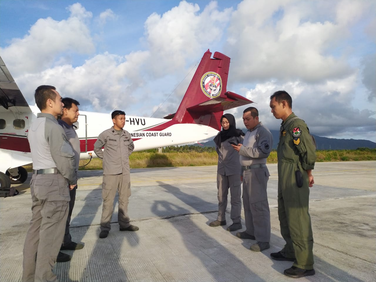 Operasi Udara Maritim Bakamla RI Pantau Perairan Natuna