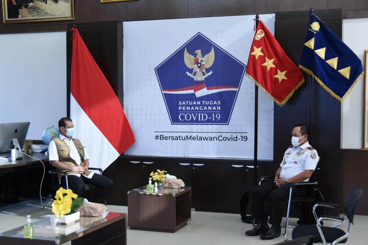 Kepala Bakamla RI Jelaskan Rencana Pelepasan Operasi Cegah Tangkal kepada Kepala BNPB