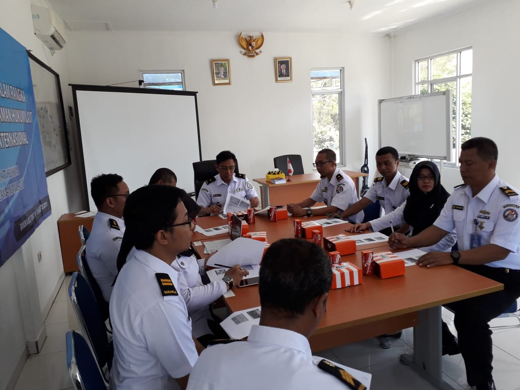 Bakamla RI/IDNCG Pahamkan Hukum Laut di Stasiun Bumi Bangka Belitung