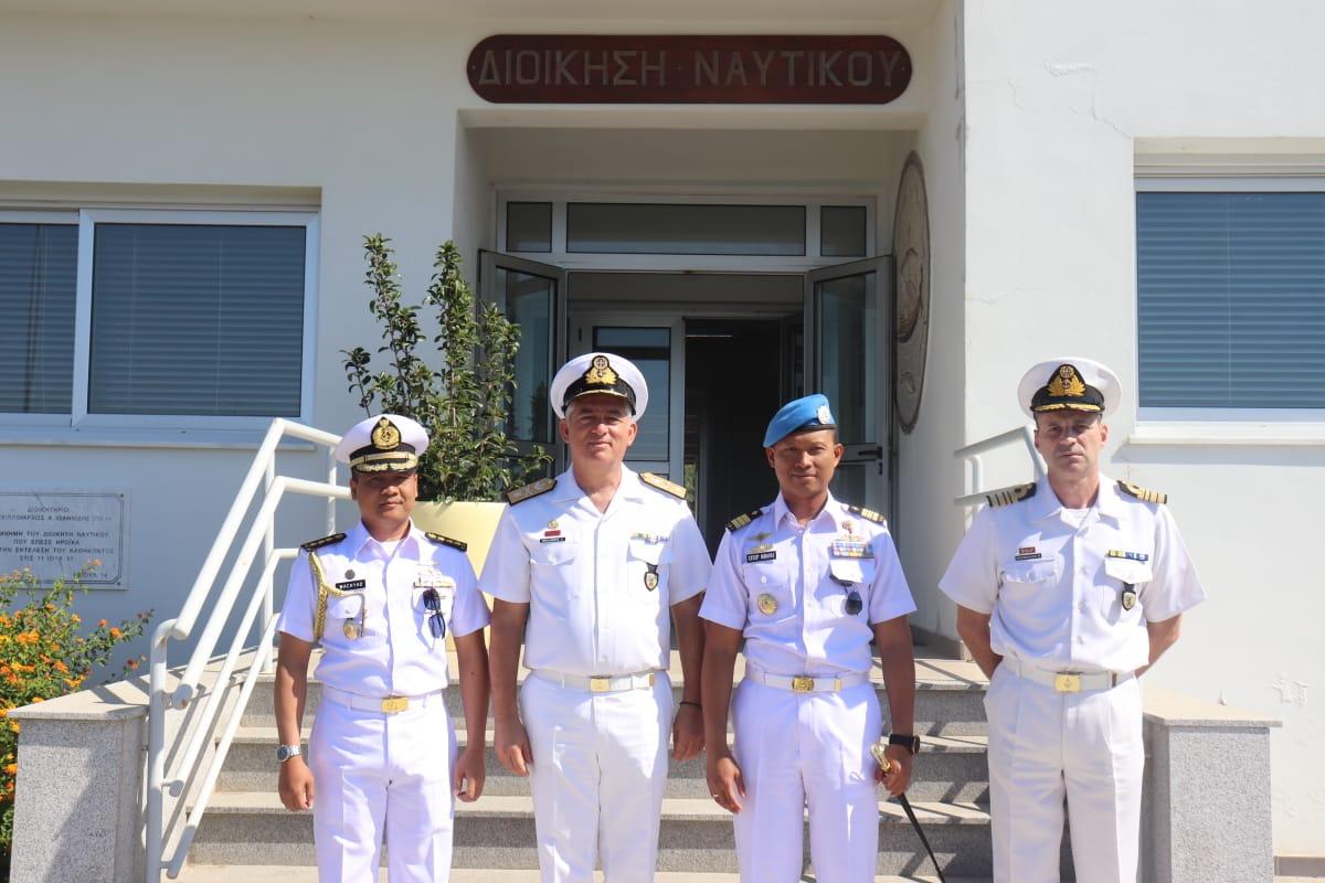 TIBA DI LIMASSOL CYPRUS, DANSATGAS MARITIM TNI KUNJUNGAN KEHORMATAN KE CYPRUS NAVAL BASE