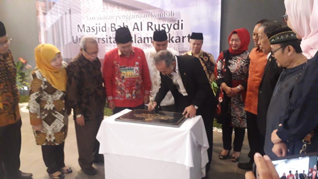 UIJ Gelar Tasyakuran, Masjid Bab Al Rusydi UIJ Kembali Digunakan Untuk Ibadah, Pembinaan Akhlak