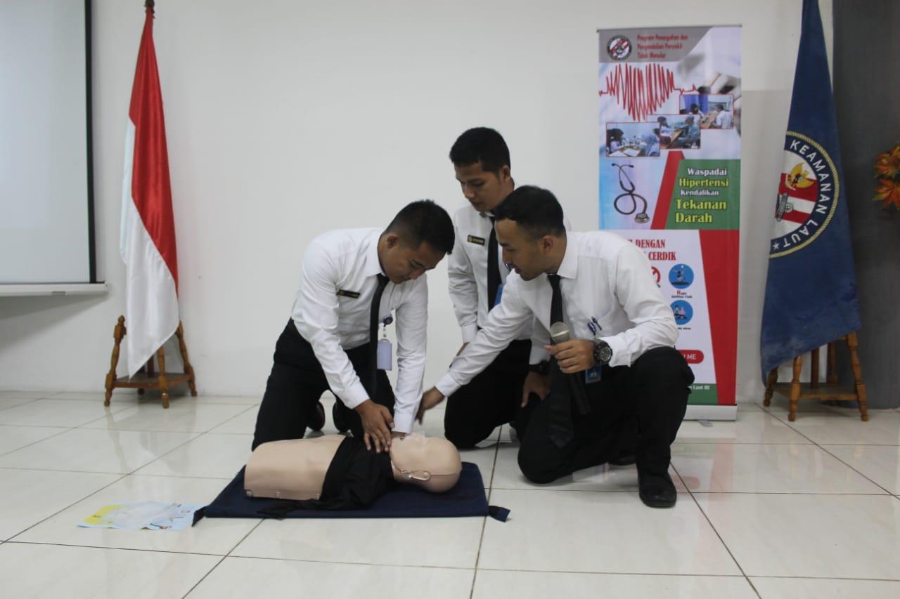Personel Bakamla RI Terima Pembekalan Bantuan Hidup Dasar (BHD) dan Hipertensi