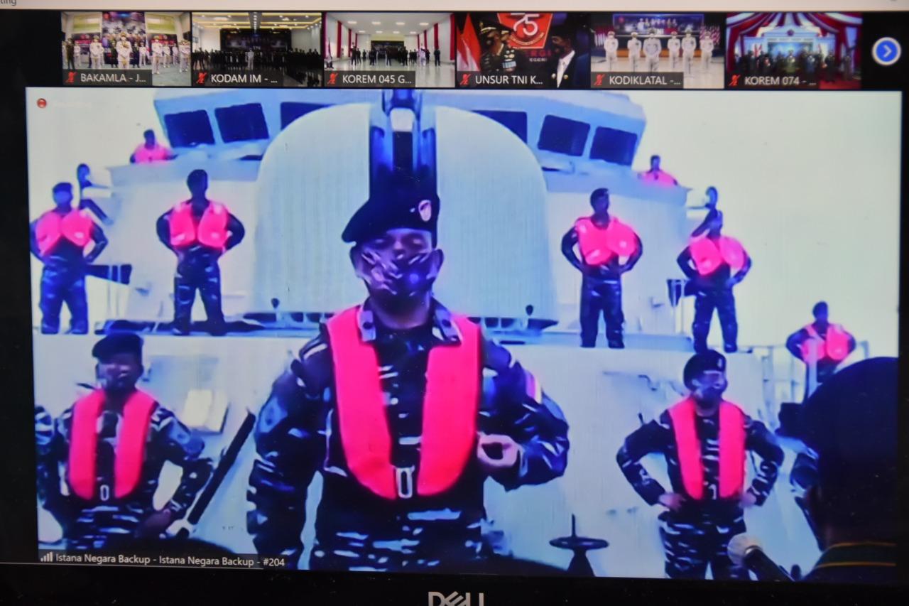 Kepala Bakamla RI Turut  Peringati HUT Ke-75 TNI Secara Virtual