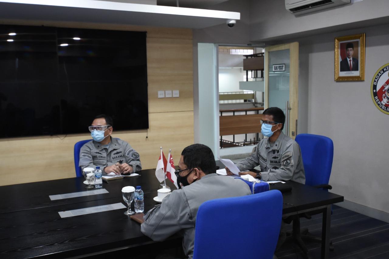 Bakamla RI - Republic of Singapore Navy Bahas Keamanan dan Keselamatan Laut