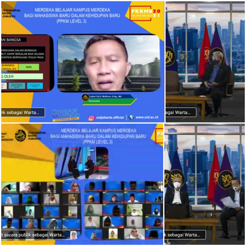 Webinar Masa Taaruf Mahasiswa, Diikuti Mahasiswa Baru UID 2021- 2022