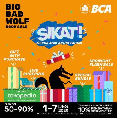 Big Bad Wolf Online Sale, Bazar Buku Terbesar Dunia yang hadir di Tokopedia 1 - 7 Desember
