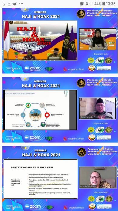 """Pascasarjana PAI UID Gelar Webinar """"HAJI & HOAX 2021"""" Ditengah Pandemi Covid 19"""