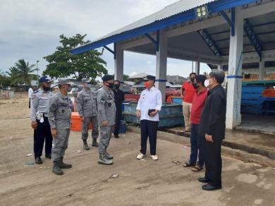 Kepala Kantor Kamla Zona Maritim Tengah Tinjau Lahan Pangkalan Armada Zona Maritim Tengah di Goronta