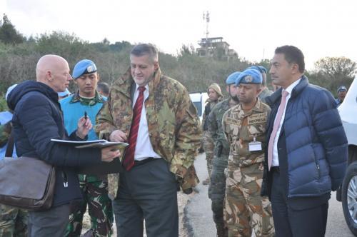 Koordinator Khusus PBB untuk Lebanon kunjungi area operasi Pasukan Garuda di Perbatasan Lebanon-Isra