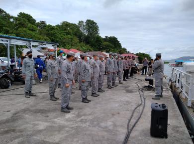 Bantu Korban Gempa Mamuju, Bakamla RI Kerahkan KN Singa Laut-402