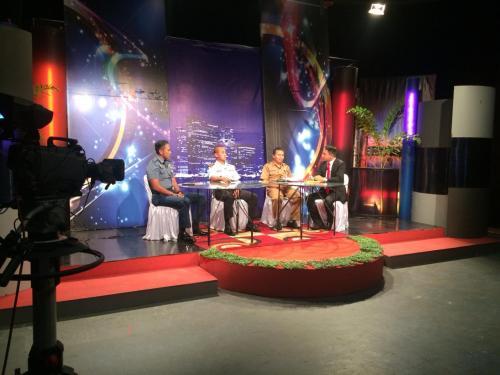 Zona Maritim Tengah Bakamla RI Dialog interaktif di Stasiun TV Nasional