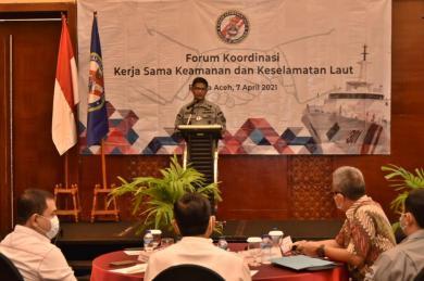 Bakamla RI Tandatangani Komitmen Bersama dengan 23 Instansi Penegak Hukum di Aceh