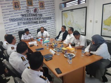 Kantor Kamla Zona Maritim Tengah Terima Tim Wasrik BPK