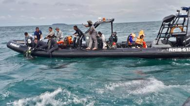 Tim SAR Bakamla Kembali Temukan Serpihan dan Rambut Jenazah Korban Pesawat Sriwijaya Air SJ182