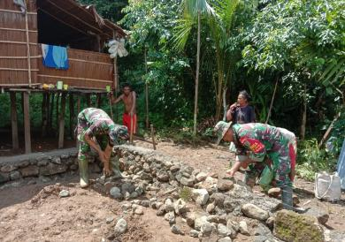 Kampung Natabui dan Toweta, Distrik Yapen Barat Prioritas TMMD Kodim 1709/Yawa TA 2020